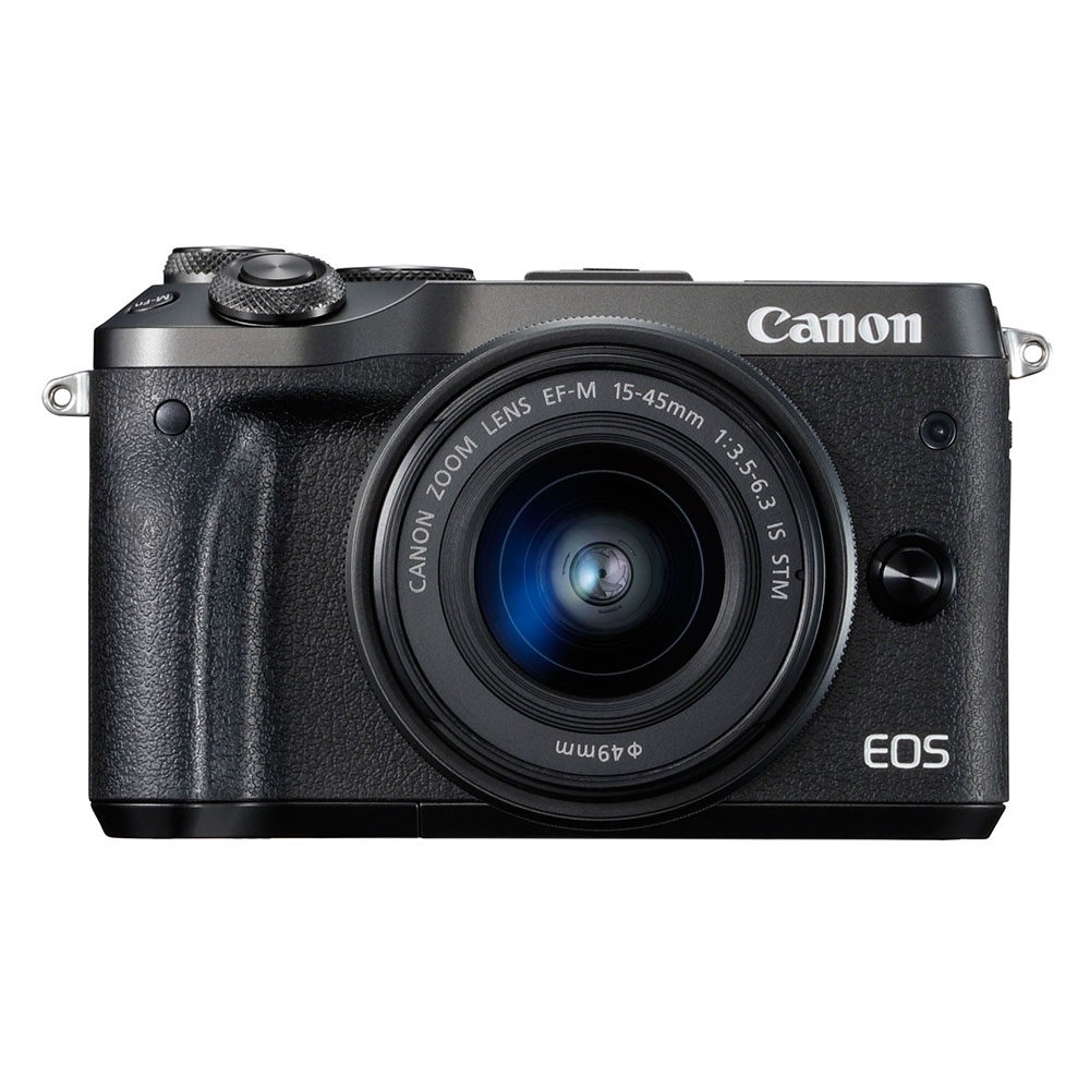 Canon EOS  M6 Black M15-45 IS STM  new